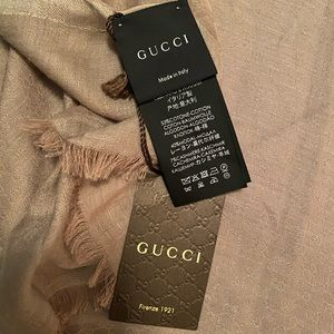Authentic Large Gucci Scarf